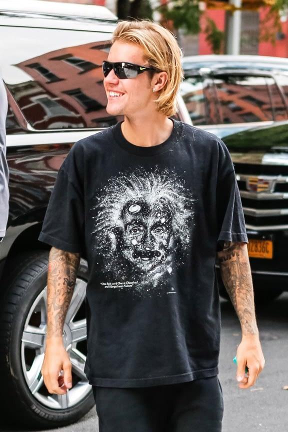 Justin Bieber in Vogue webpage